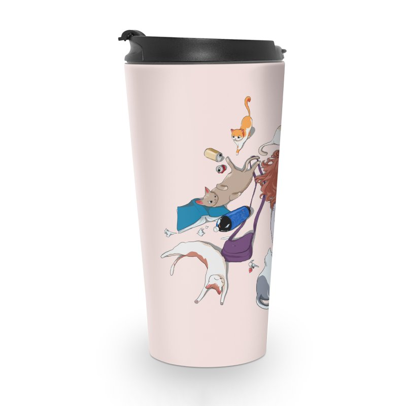 Anime Cat Girl Accessories Travel Mug by Designs by Billy Wan
