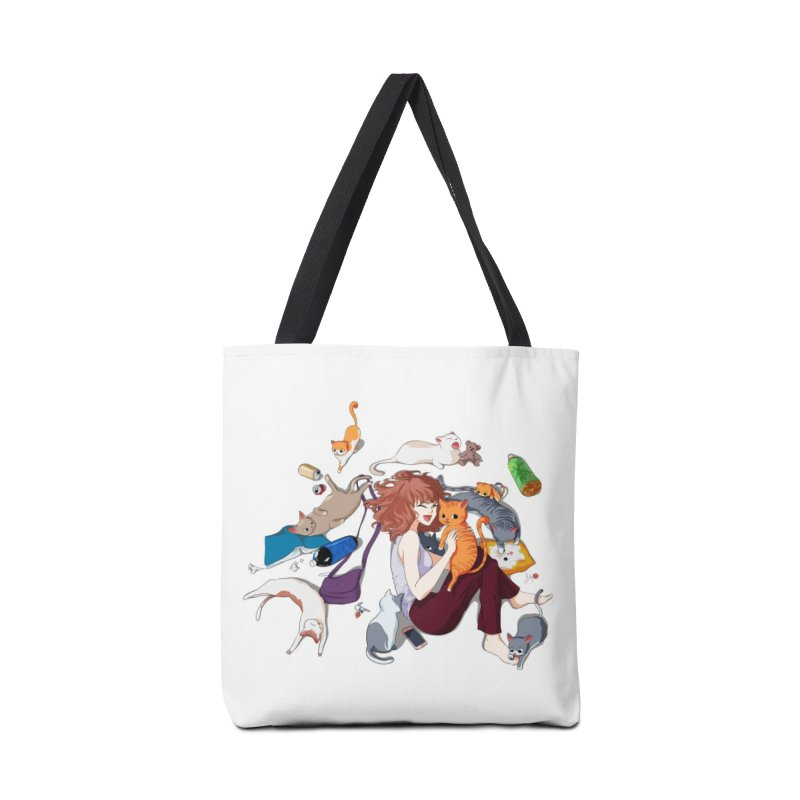 Anime Cat Girl Accessories Tote Bag Bag by Designs by Billy Wan