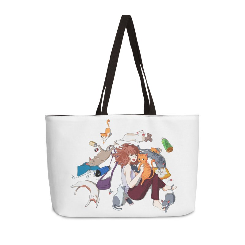 Anime Cat Girl Accessories Weekender Bag Bag by Designs by Billy Wan
