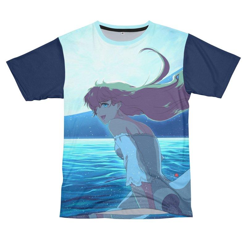 Lunar Descent Men's T-Shirt Cut & Sew by Designs by Billy Wan