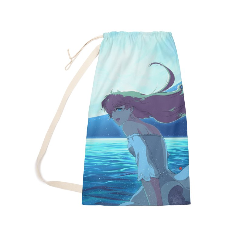 Lunar Descent Accessories Laundry Bag Bag by Designs by Billy Wan