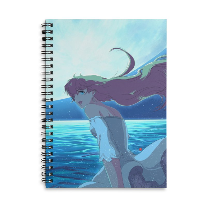 Lunar Descent Accessories Lined Spiral Notebook by Designs by Billy Wan