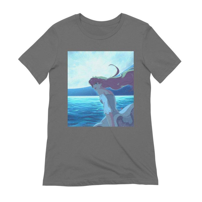 Lunar Descent Women's Extra Soft T-Shirt by Designs by Billy Wan