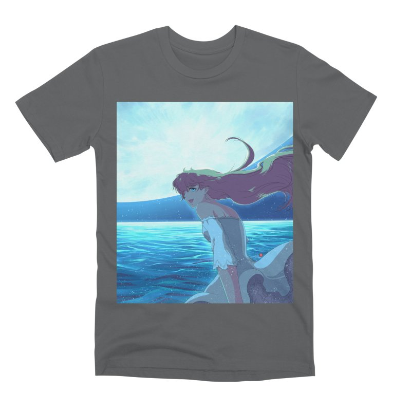 Lunar Descent Men's Premium T-Shirt by Designs by Billy Wan