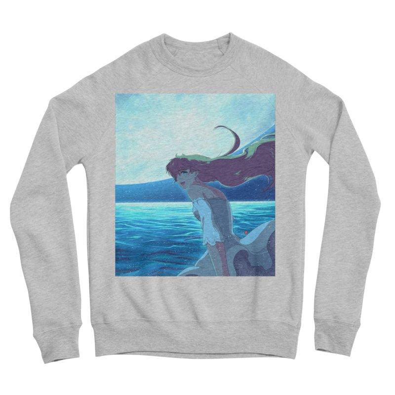 Lunar Descent Women's Sponge Fleece Sweatshirt by Designs by Billy Wan