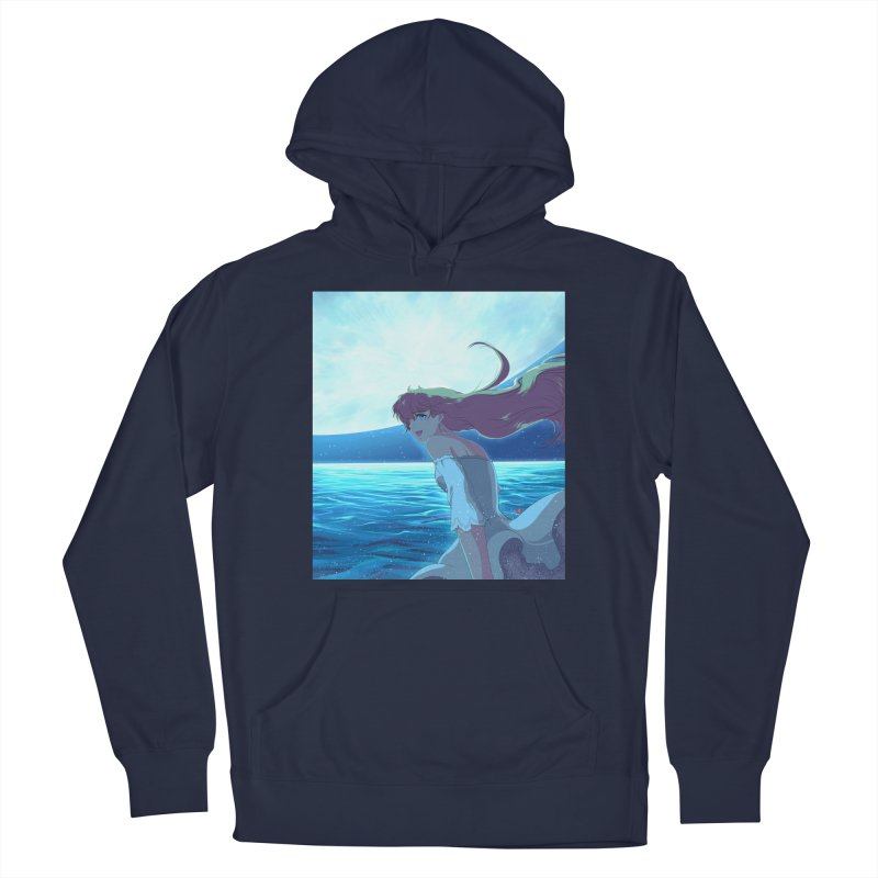 Lunar Descent Men's French Terry Pullover Hoody by Designs by Billy Wan