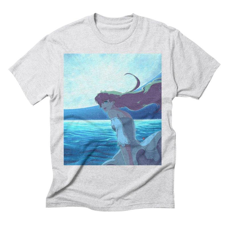 Lunar Descent Men's Triblend T-Shirt by Designs by Billy Wan