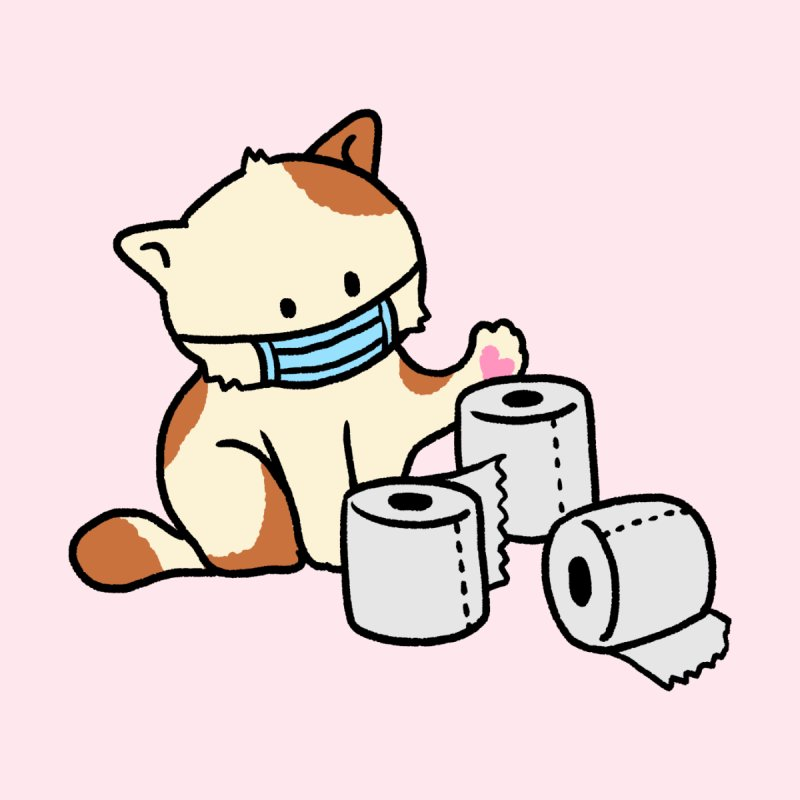 Hygiene Cat Men's T-Shirt by B.Wan Studio