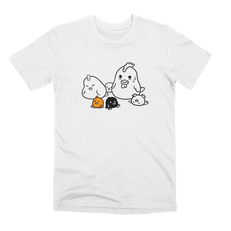 The Chicken Family Men's T-Shirt by B.Wan Studio