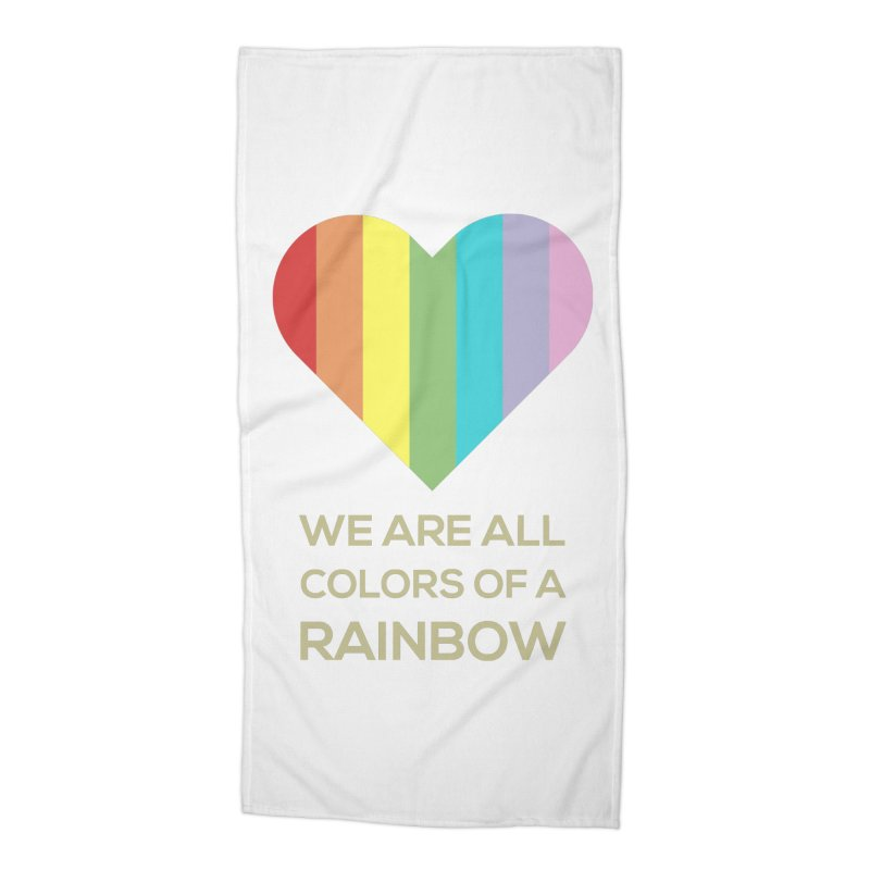 We Are All Colors of a Rainbow Accessories Beach Towel by Designs by Billy Wan