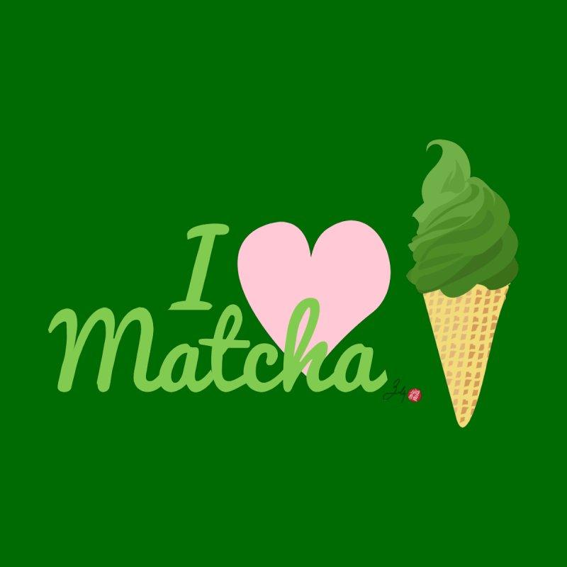 I Love Matcha Ice Cream Accessories Mug by Designs by Billy Wan