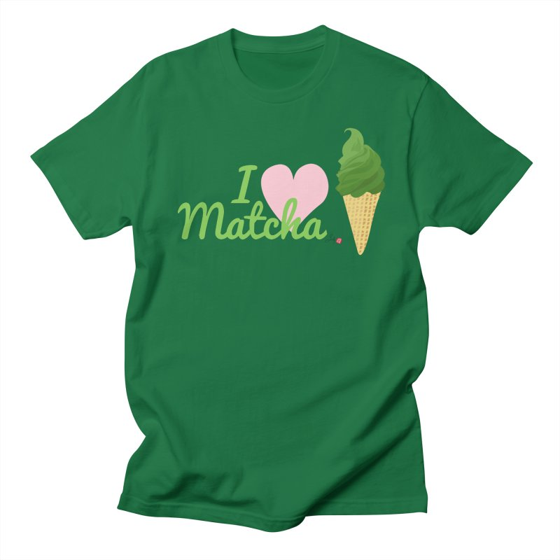 I Love Matcha Ice Cream in Men's Regular T-Shirt Kelly Green by Designs by Billy Wan