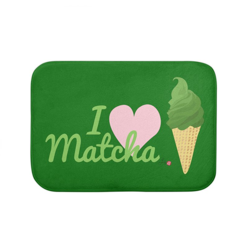 I Love Matcha Ice Cream Home Bath Mat by Designs by Billy Wan