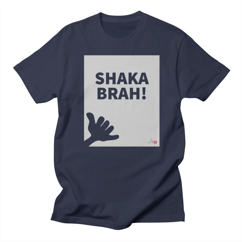Shaka Brah! in Men's Regular T-Shirt Navy by Designs by Billy Wan
