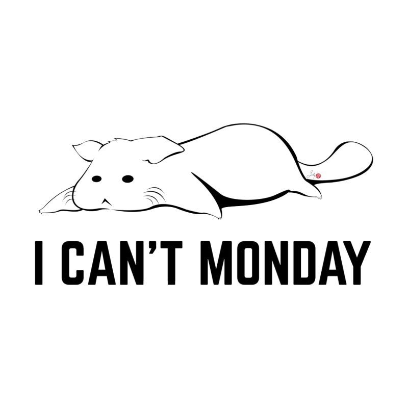 I Can't Monday Accessories Beach Towel by Designs by Billy Wan