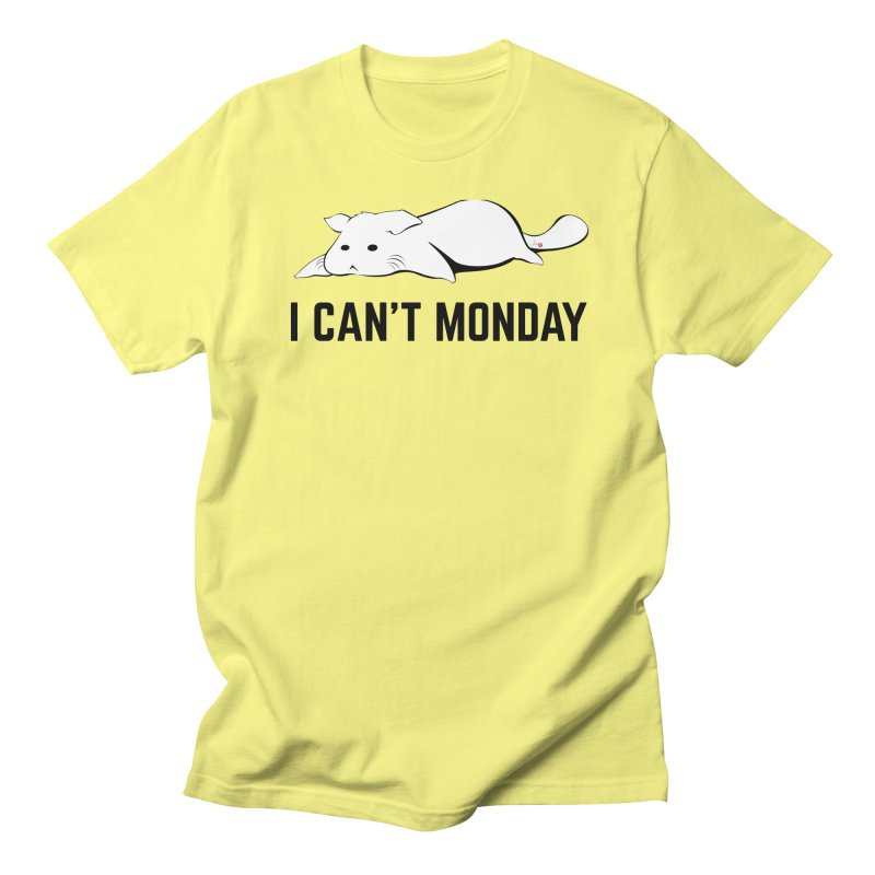 I Can't Monday in Men's Regular T-Shirt Lemon by Designs by Billy Wan