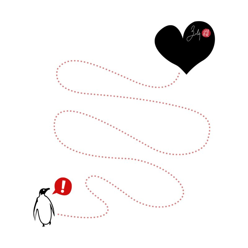 The Lost Penguin From Your Heart Kids Baby T-Shirt by Designs by Billy Wan
