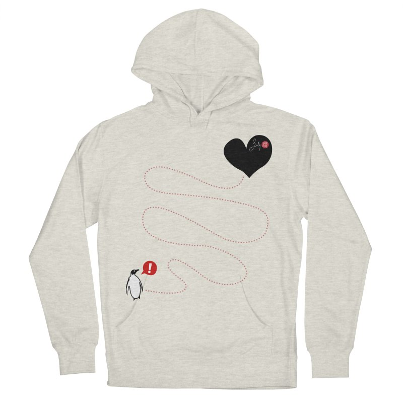 The Lost Penguin From Your Heart Men's French Terry Pullover Hoody by Designs by Billy Wan