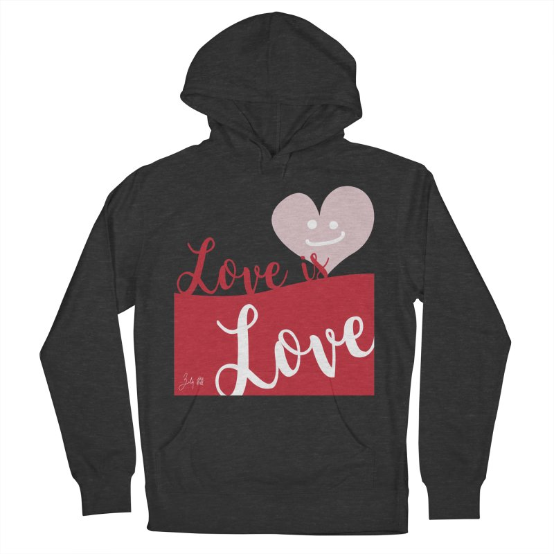Love is Love Men's French Terry Pullover Hoody by Designs by Billy Wan