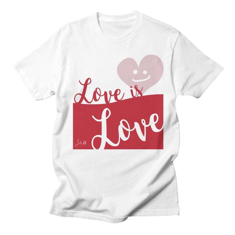Love is Love in Men's Regular T-Shirt White by Designs by Billy Wan
