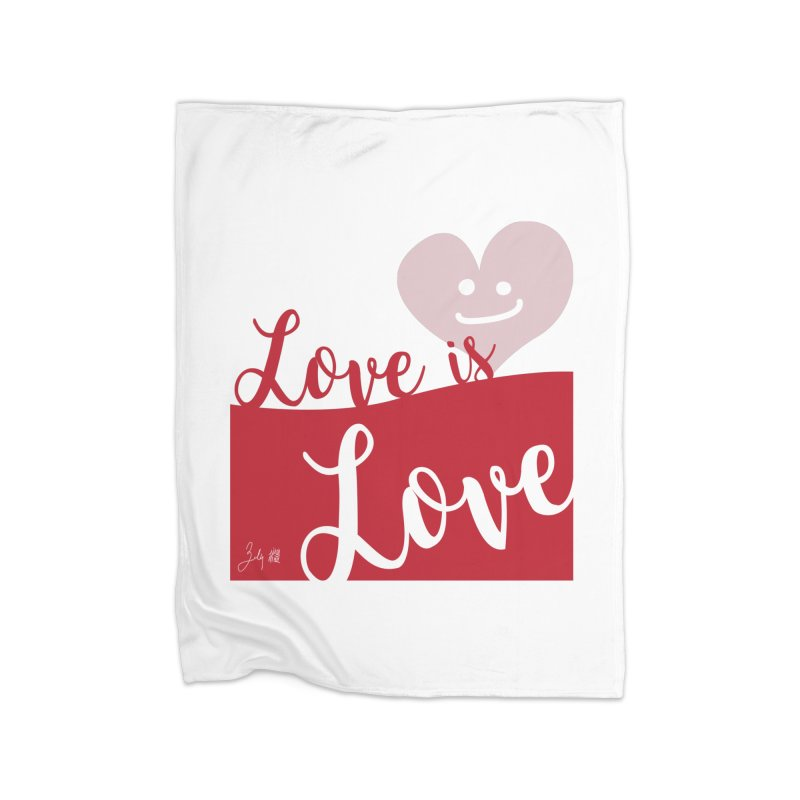 Love is Love Home Blanket by Designs by Billy Wan