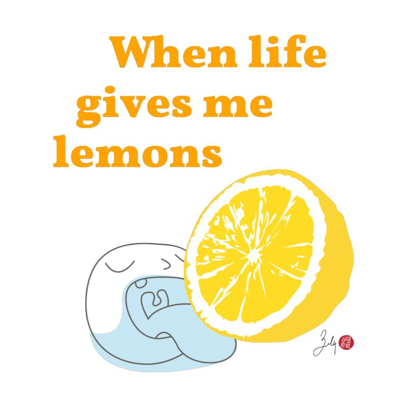 When Life Gives Me Lemons Home Blanket by Designs by Billy Wan