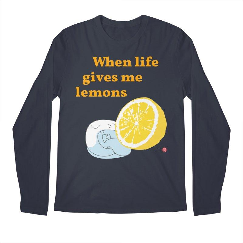 When Life Gives Me Lemons Men's Regular Longsleeve T-Shirt by Designs by Billy Wan