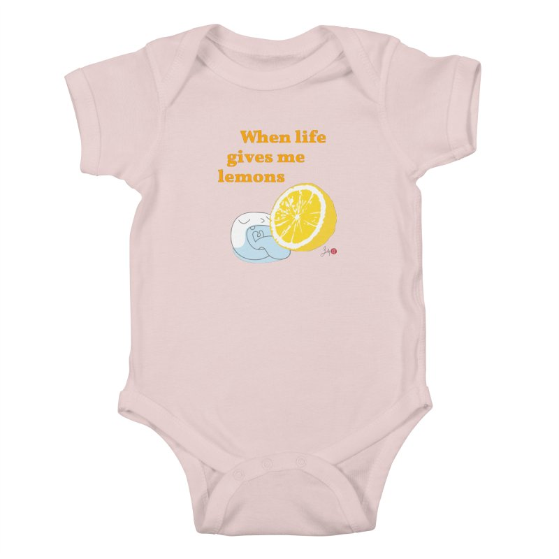When Life Gives Me Lemons Kids Baby Bodysuit by Designs by Billy Wan