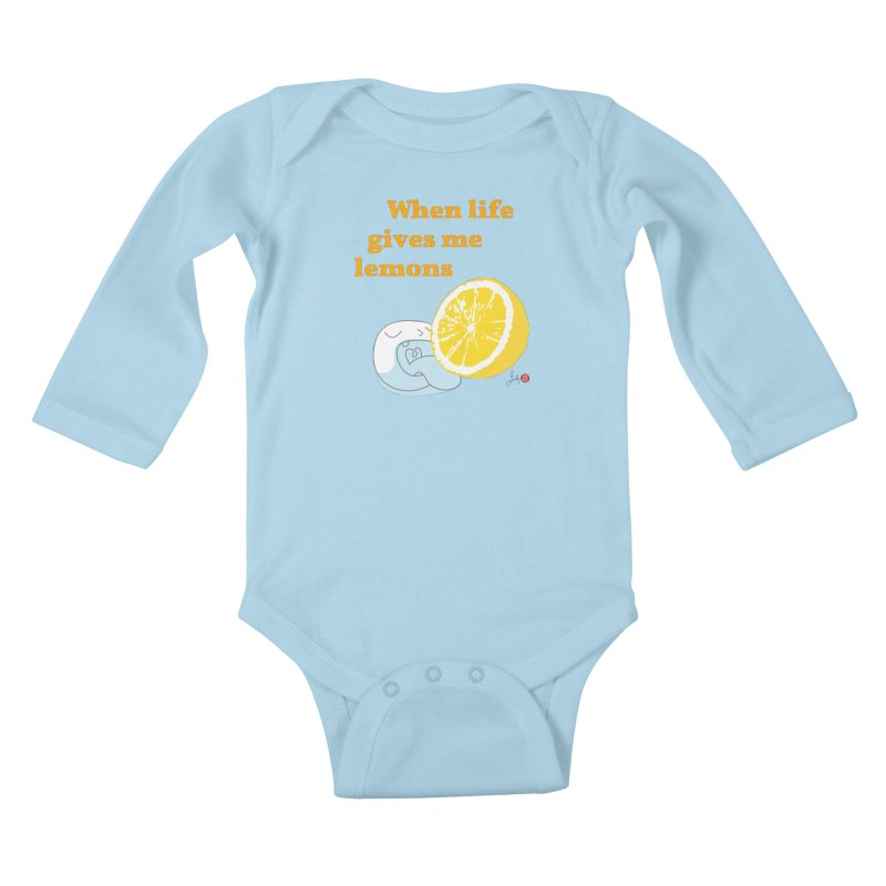 When Life Gives Me Lemons Kids Baby Longsleeve Bodysuit by Designs by Billy Wan