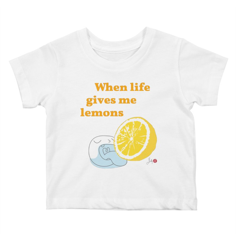 When Life Gives Me Lemons Kids Baby T-Shirt by Designs by Billy Wan