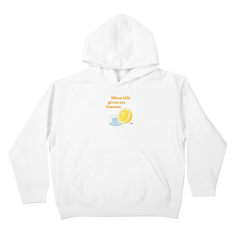 When Life Gives Me Lemons Kids Pullover Hoody by Designs by Billy Wan