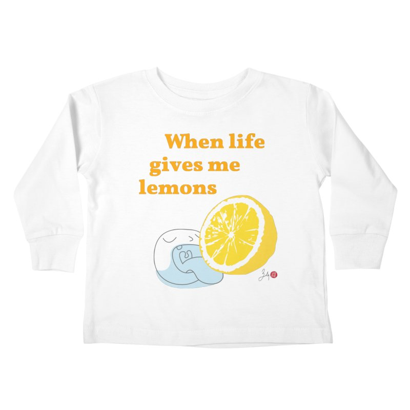 When Life Gives Me Lemons Kids Toddler Longsleeve T-Shirt by Designs by Billy Wan