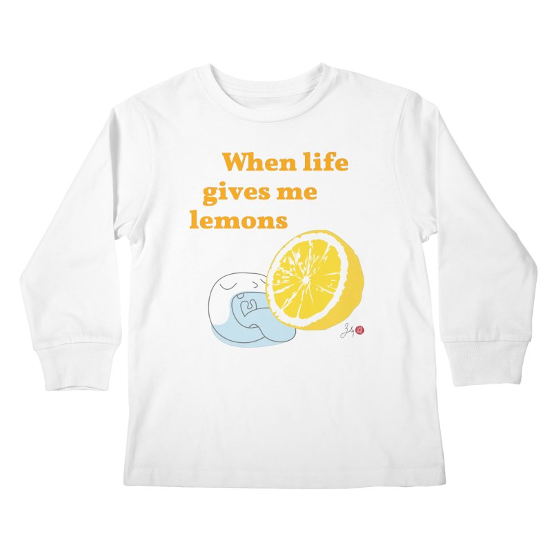 When Life Gives Me Lemons Kids Longsleeve T-Shirt by Designs by Billy Wan