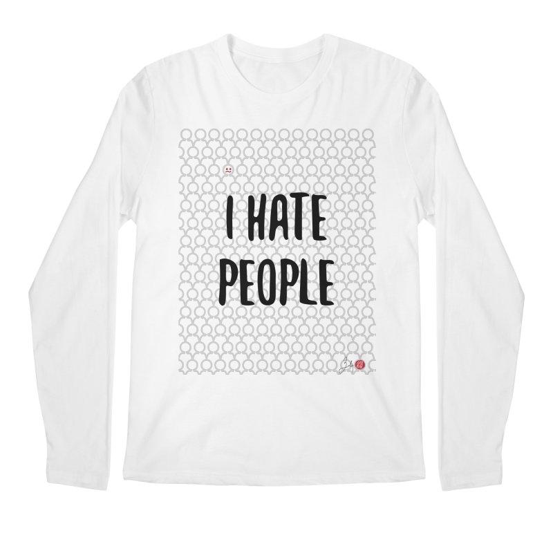 I Hate People Men's Regular Longsleeve T-Shirt by Designs by Billy Wan