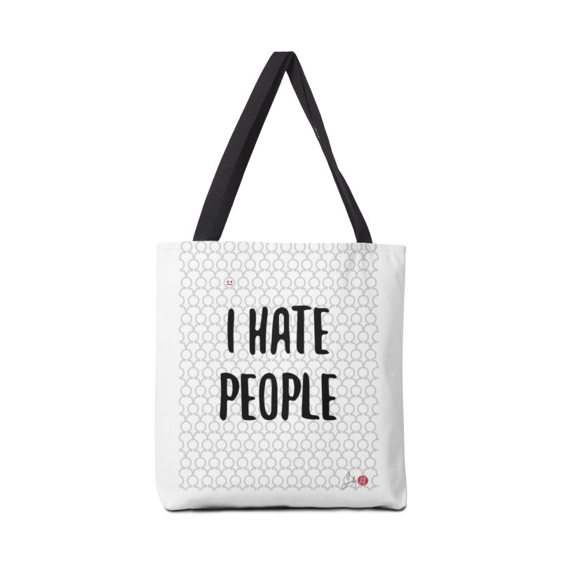 I Hate People Accessories Bag by Designs by Billy Wan