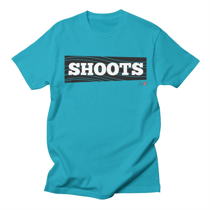 Shoots in Men's Regular T-Shirt Cyan by Designs by Billy Wan