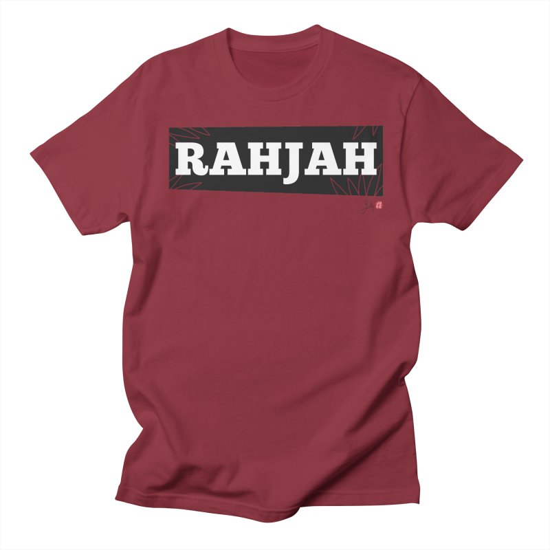 Rahjah in Men's Regular T-Shirt Scarlet Red by Designs by Billy Wan