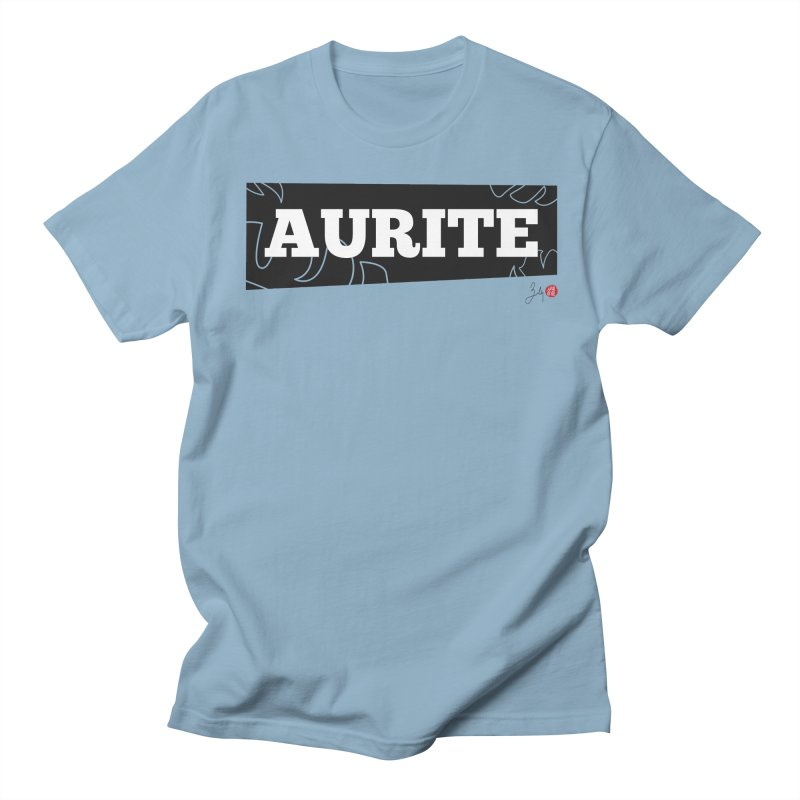 Aurite in Men's Regular T-Shirt Light Blue by Designs by Billy Wan