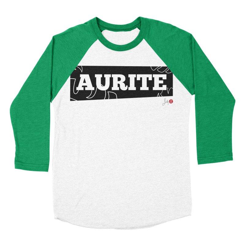 Aurite Women's Baseball Triblend Longsleeve T-Shirt by Designs by Billy Wan