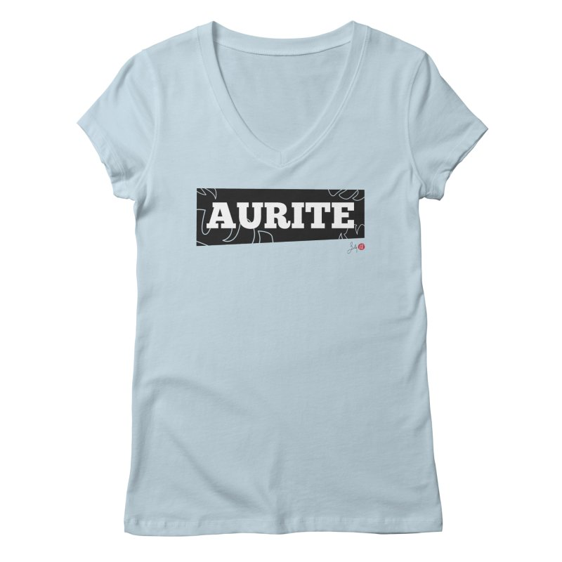 Aurite Women's V-Neck by Designs by Billy Wan