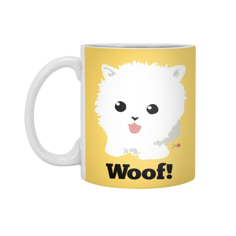 Pomeranian Poof Ball Dog Accessories Mug by Designs by Billy Wan
