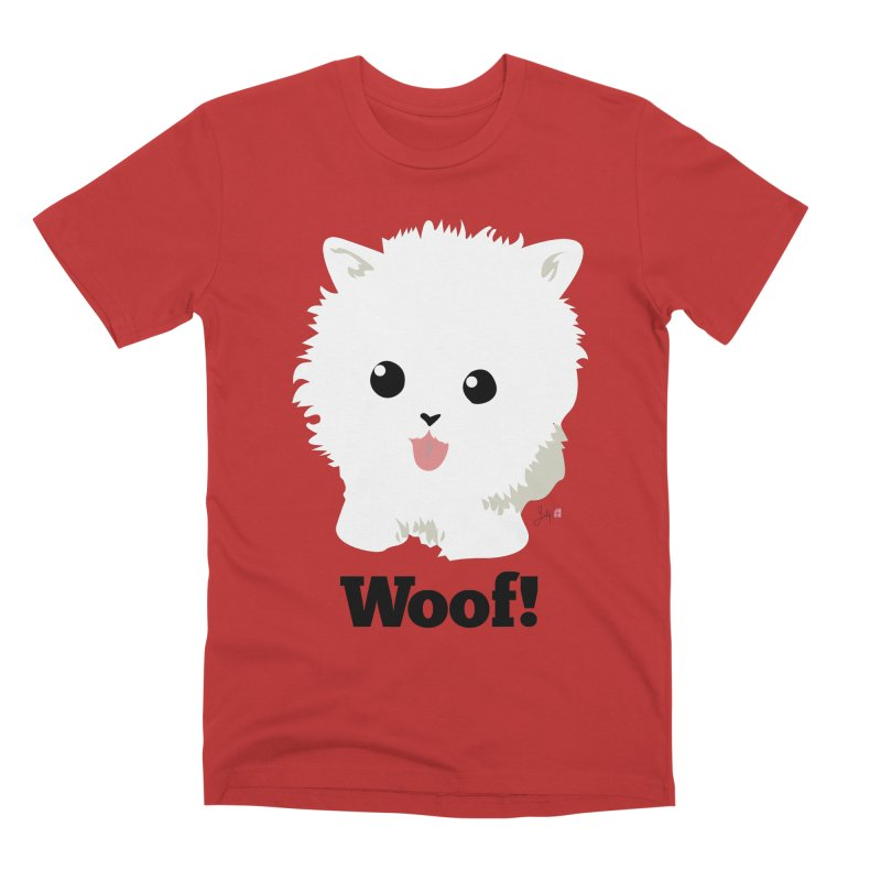Pomeranian Poof Ball Dog Men's T-Shirt by Designs by Billy Wan