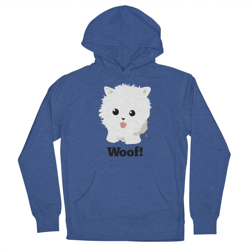 Pomeranian Poof Ball Dog Men's Pullover Hoody by Designs by Billy Wan