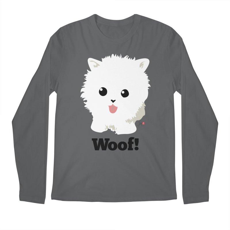 Pomeranian Poof Ball Dog Men's Longsleeve T-Shirt by Designs by Billy Wan