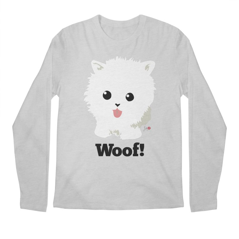 Pomeranian Poof Ball Dog Men's Regular Longsleeve T-Shirt by Designs by Billy Wan