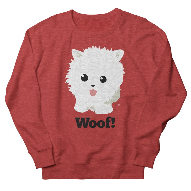 Pomeranian Poof Ball Dog Women's French Terry Sweatshirt by Designs by Billy Wan