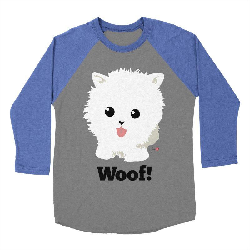 Pomeranian Poof Ball Dog Women's Baseball Triblend Longsleeve T-Shirt by Designs by Billy Wan