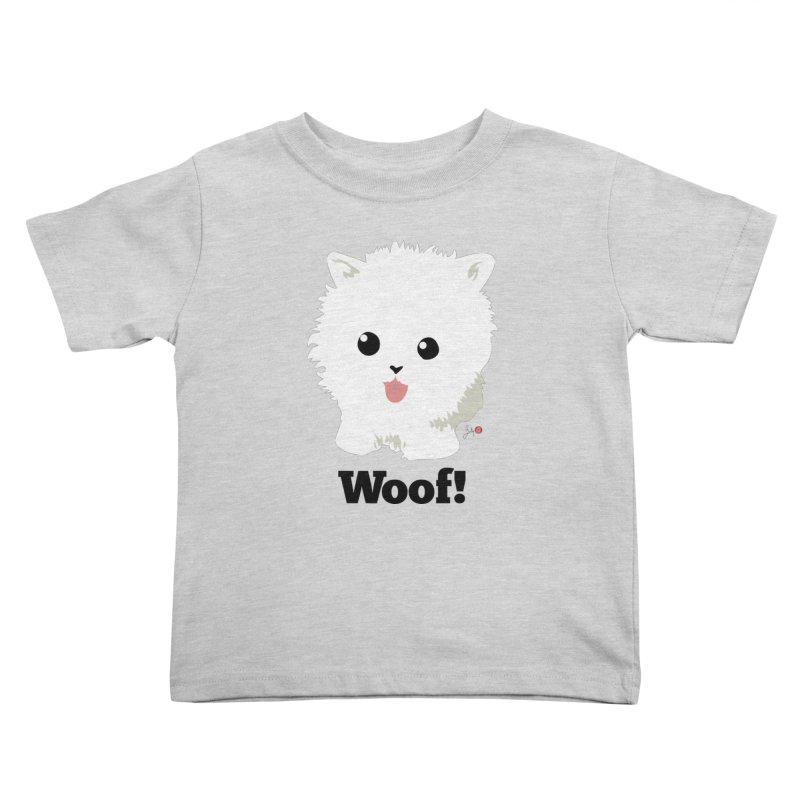 Pomeranian Poof Ball Dog Kids Toddler T-Shirt by Designs by Billy Wan