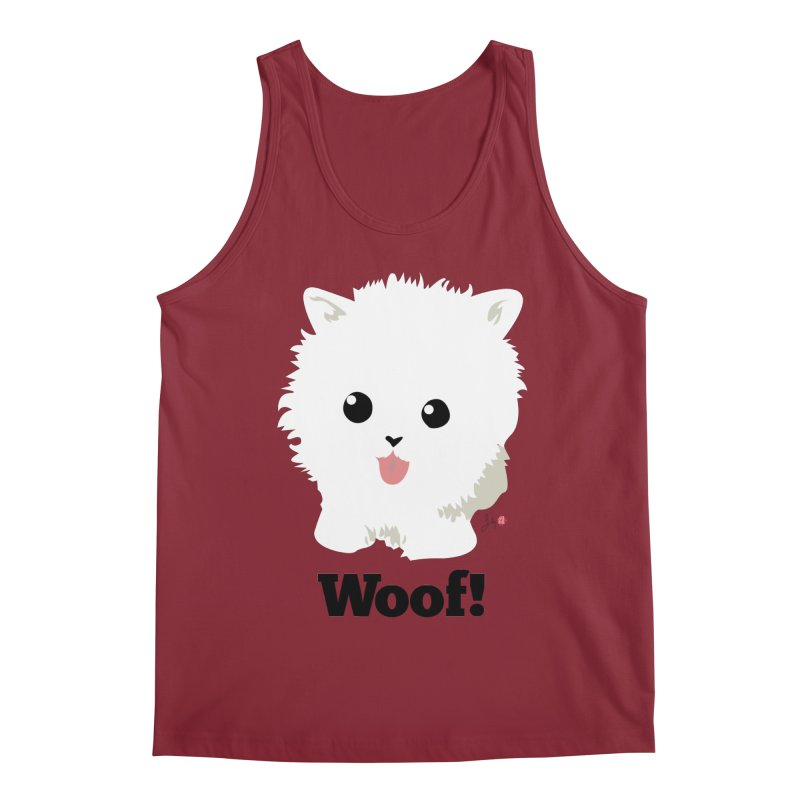 Pomeranian Poof Ball Dog Men's Tank by Designs by Billy Wan