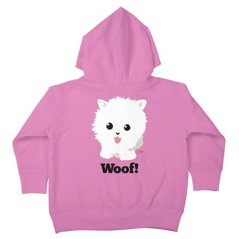 Pomeranian Poof Ball Dog Kids Toddler Zip-Up Hoody by Designs by Billy Wan